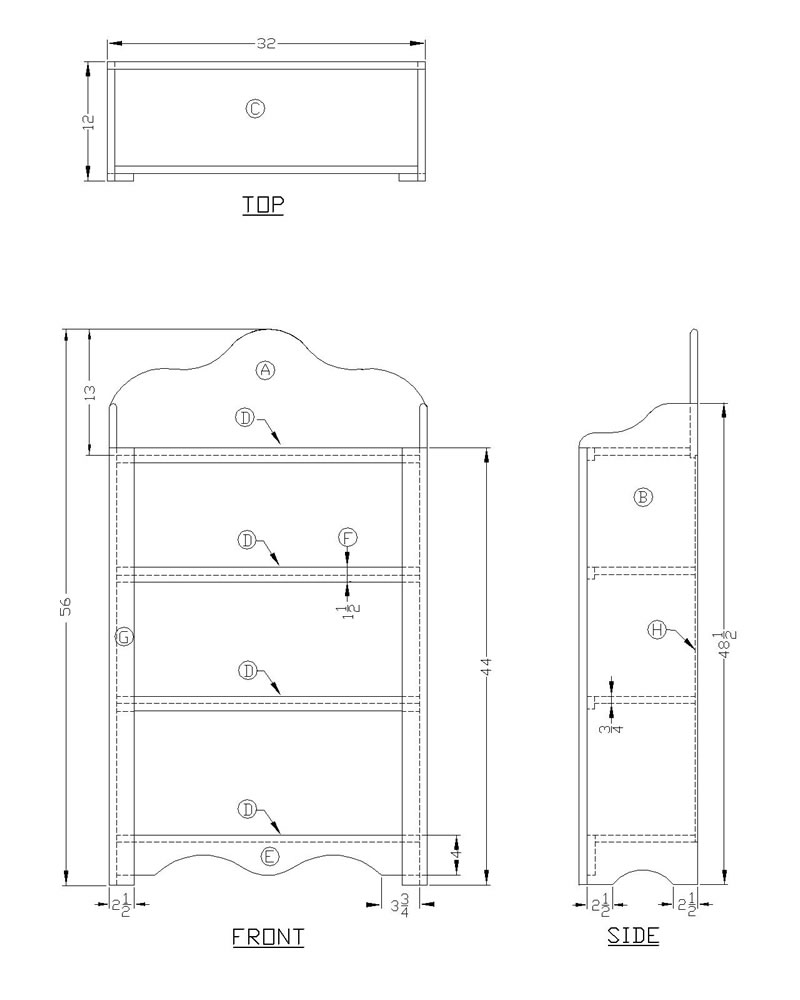 build wood bookcase plans
