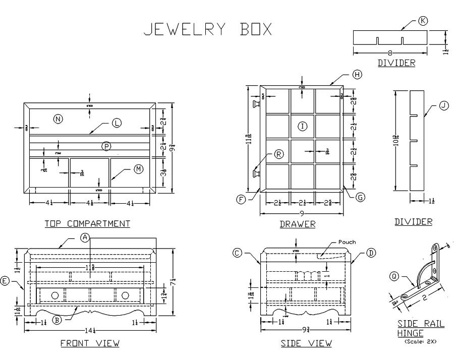 Plans For Wooden Jewelry Box