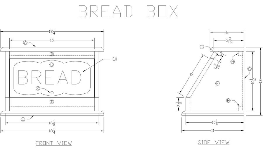 Wooden Bread Box Plans
