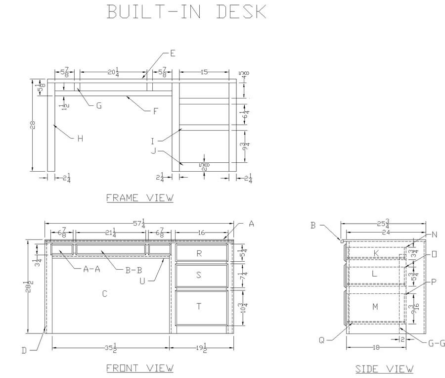 Plans For Building A Desk Free