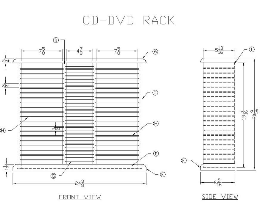 woodworking plans dvd shelf