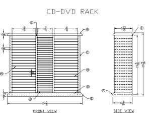 Wooden CD Storage Rack plans