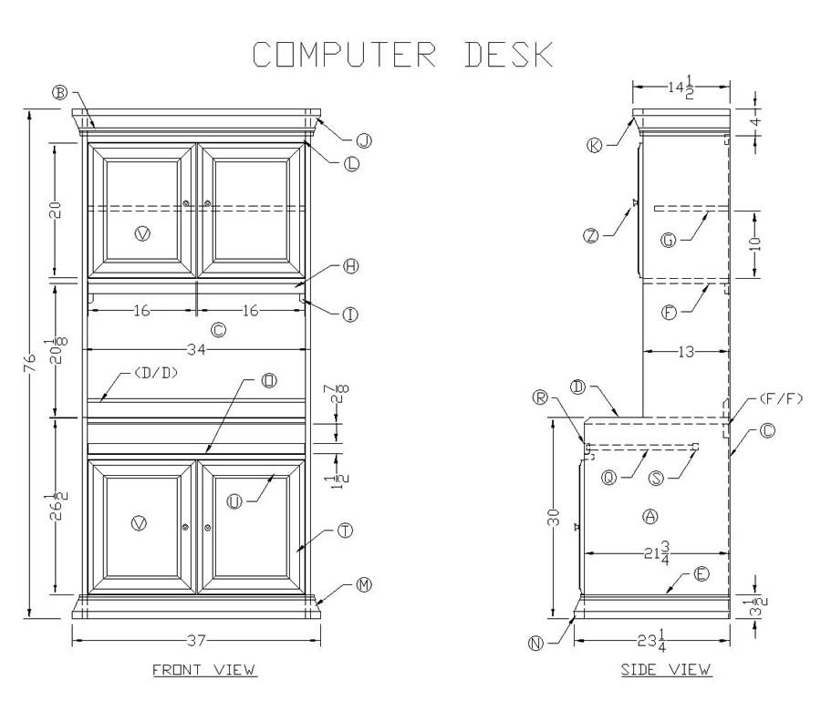 Learn How to Build a Wooden Computer Desk - Free Woodworking Plans at ...