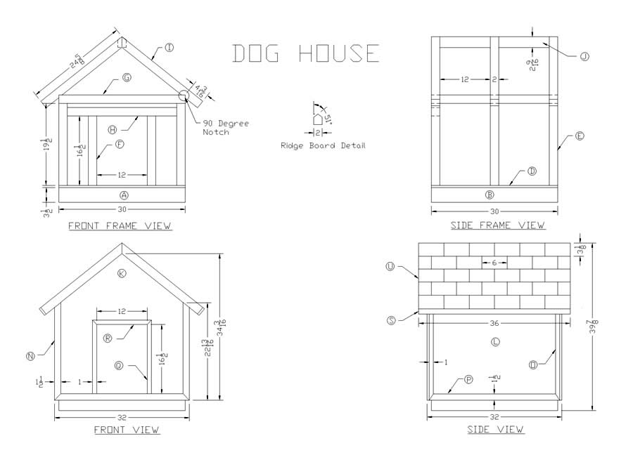 20 free dog house diy plans and idea 39 s for building a dog for Dog kennel floor plans