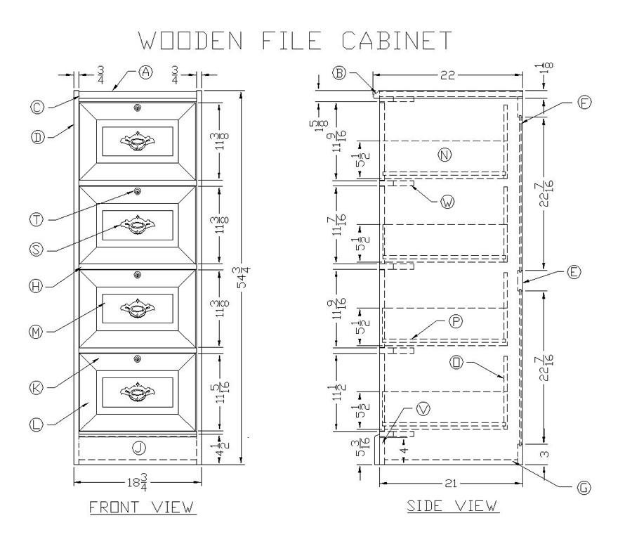 Learn How to Make a Wooden File Cabinet Woodworking Plans at Lees