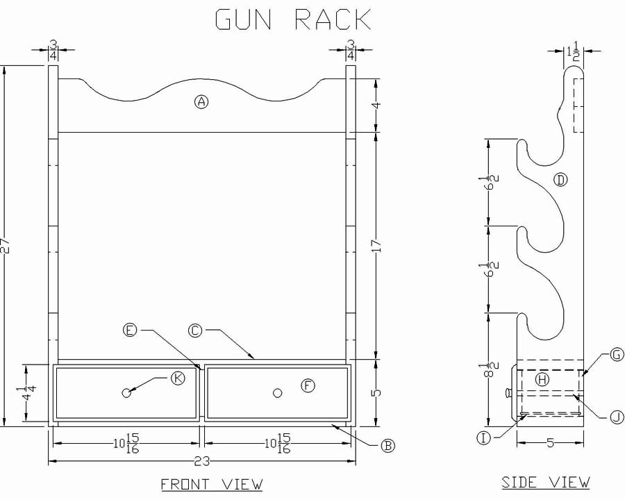 DIY Gun Rack Pattern Plans Free