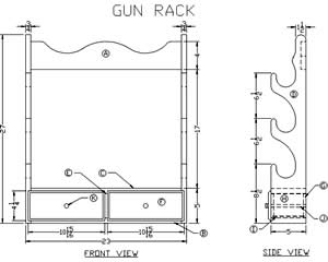 How To Build A Wooden Gun Rack Free Woodworking Plans At
