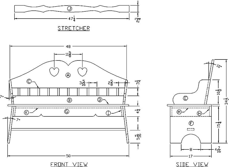 Learn How To Build A Wooden Heart Bench Woodworking Plans At Lee S Wood Projects
