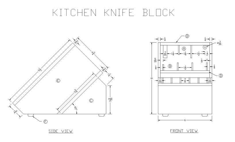 How to Make a Wood Kitchen Knife Block   Woodworking Plans at