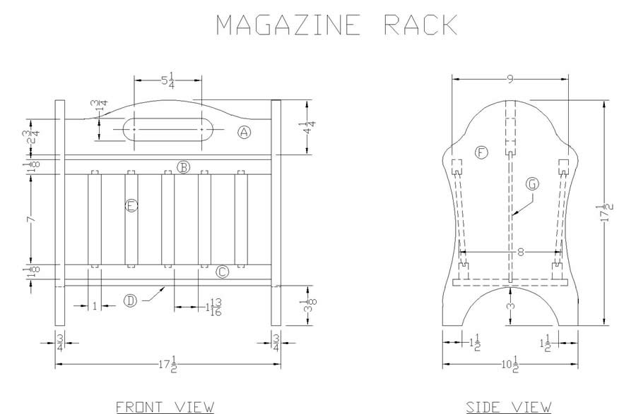 Wood Magazine Rack Plans