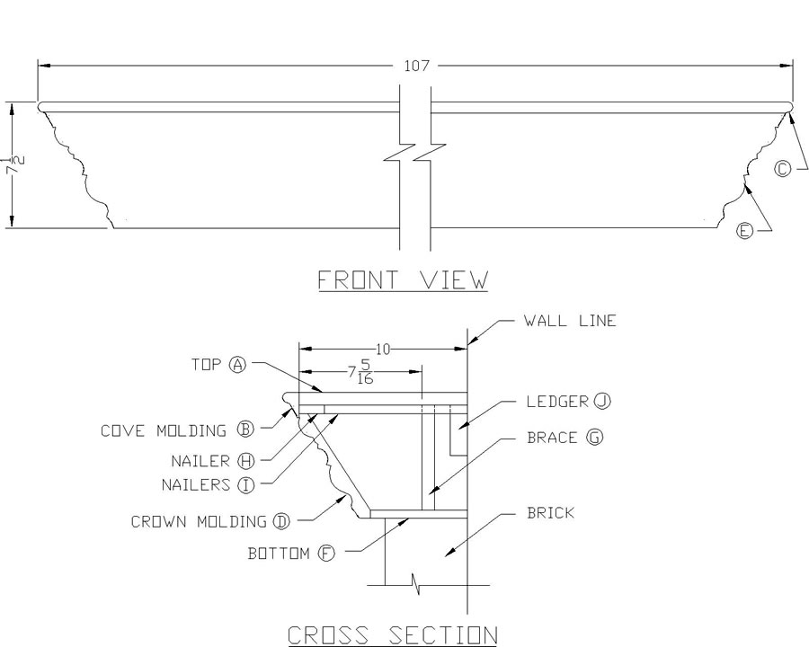 plans for a fireplace mantel
