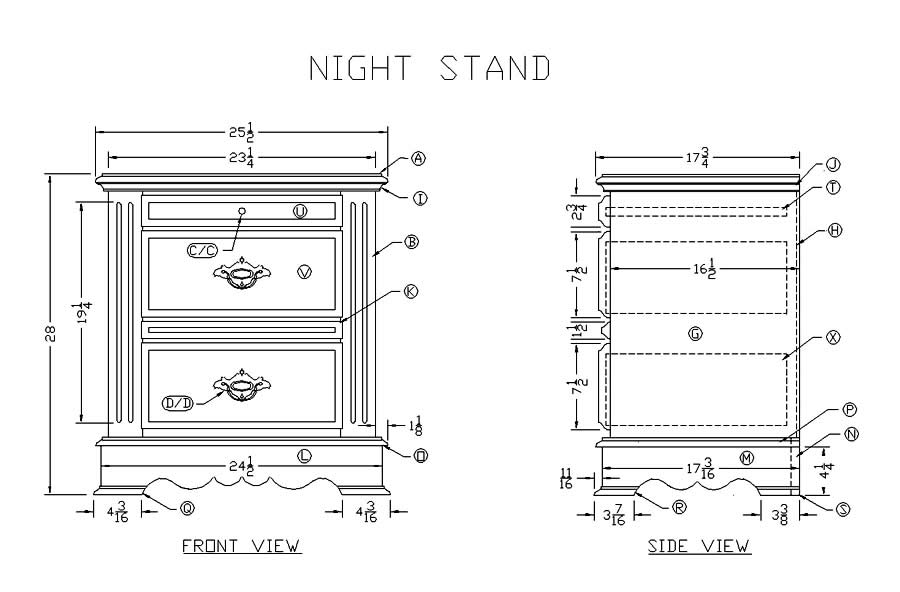 Pdf diy night stand woodworking plans download mission for Nightstand plans