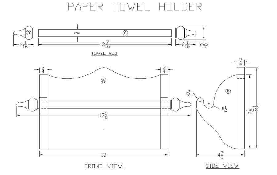 Paper Towel Holder Plans
