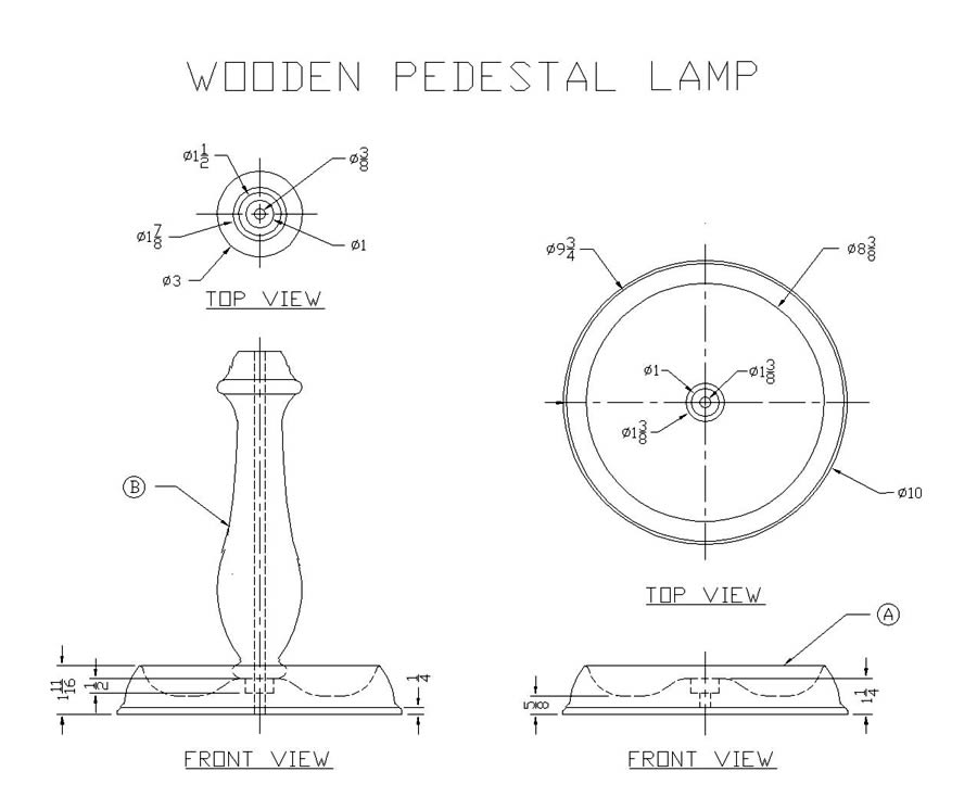 woodworking plans table lamp