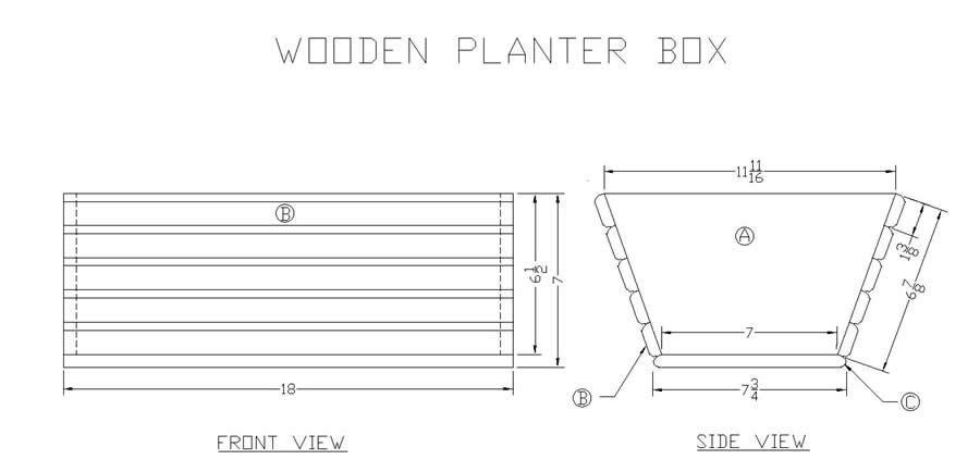 Planter Box Construction Detail