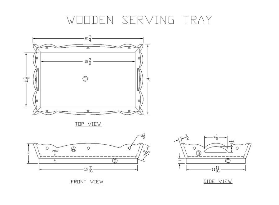 plans for wooden tray