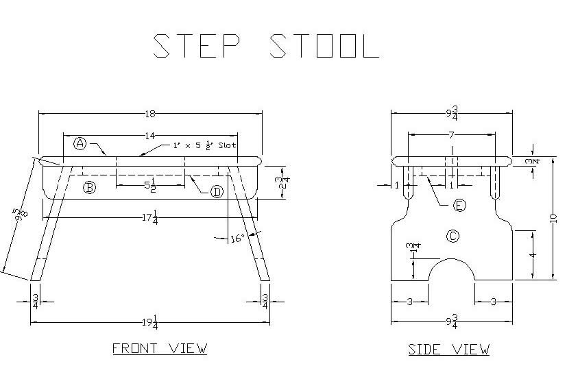Folding wooden step stool plans woodproject