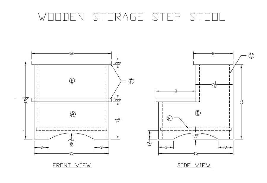 step stool wood plans