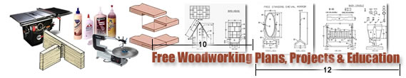 Free Woodworking Plans, Projects and Education