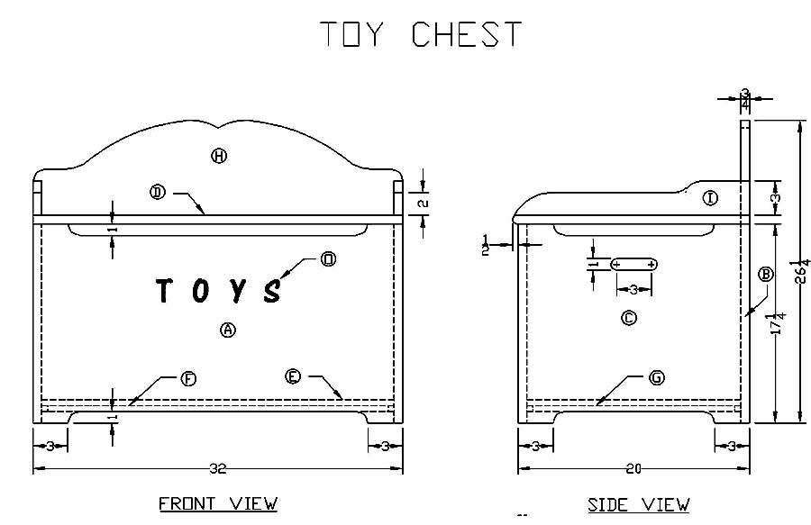 Child's Toy Box Plans
