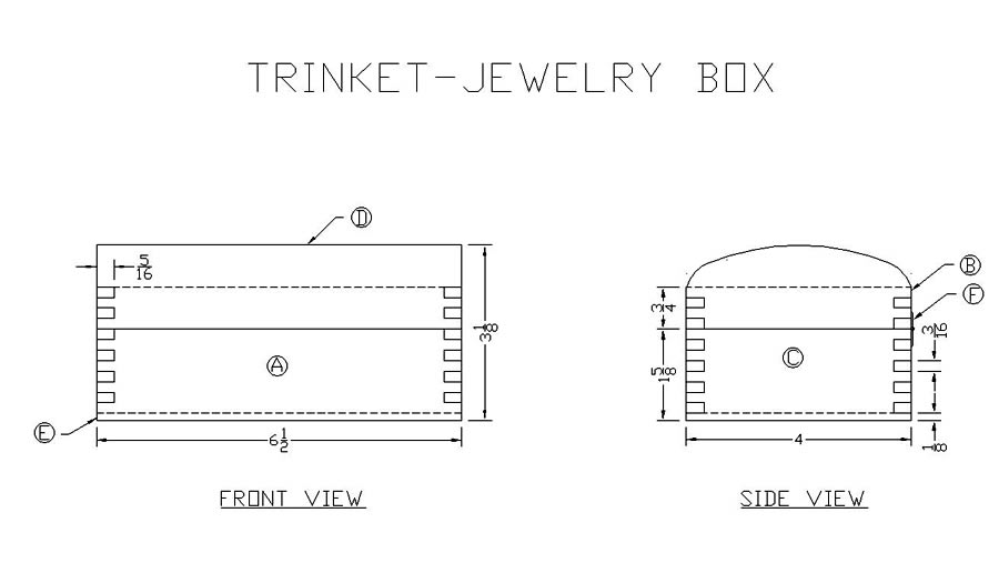 Learn how to make a jewelry trinket box free woodworking for How to make a ring box out of wood