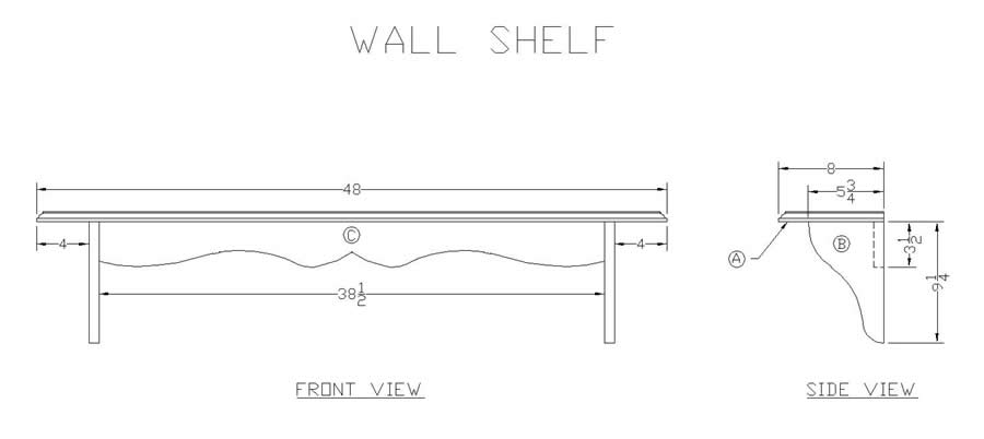 ... Wood Wall Shelf - Woodworking Plans for Free at leeswoodprojects.com